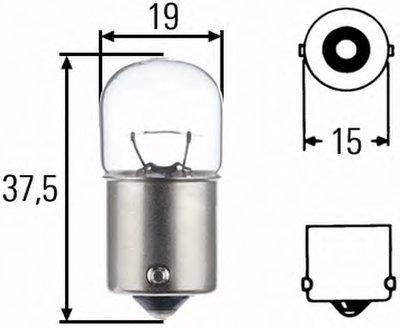 Лампа накаливания, фонарь указателя поворота; Лампа накаливания, фонарь сигнала торможения; Лампа накаливания, фонарь освещения номерного знака; Лампа накаливания, фара заднего хода; Лампа накаливания, задний гарабитный огонь; Лампа накаливания, oсвещение салона; Лампа накаливания, фонарь освещения багажника; Лампа накаливания, стояночные огни / га HELLA купить