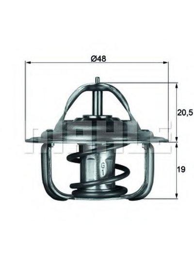 TX183D MAHLE ORIGINAL Термостат, охлаждающая жидкость