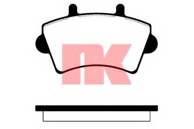 223631 NK Комплект тормозных колодок, дисковый тормоз