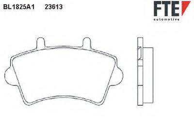 BL1825A1 FTE Комплект тормозных колодок, дисковый тормоз