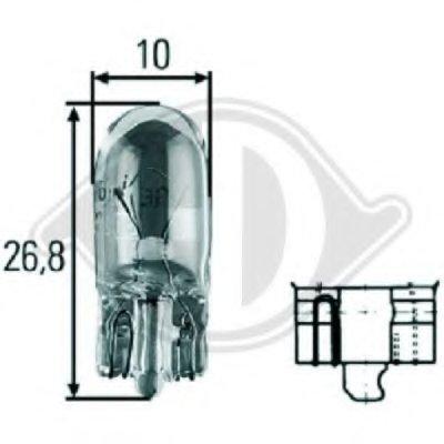 Лампа накаливания, фонарь освещения номерного знака; Лампа накаливания, задний гарабитный огонь; Лампа накаливания, стояночные огни / габаритные фонари; Лампа накаливания, габаритный огонь; Лампа накаливания; Лампа накаливания, стояночный / габаритный огонь; Лампа накаливания, стояночный / габаритный огонь; Лампа накаливания, дополнительный фонарь  HD Tuning DIEDERICHS купить